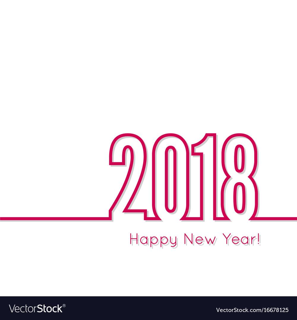 Happy new year 2018 theme vector image