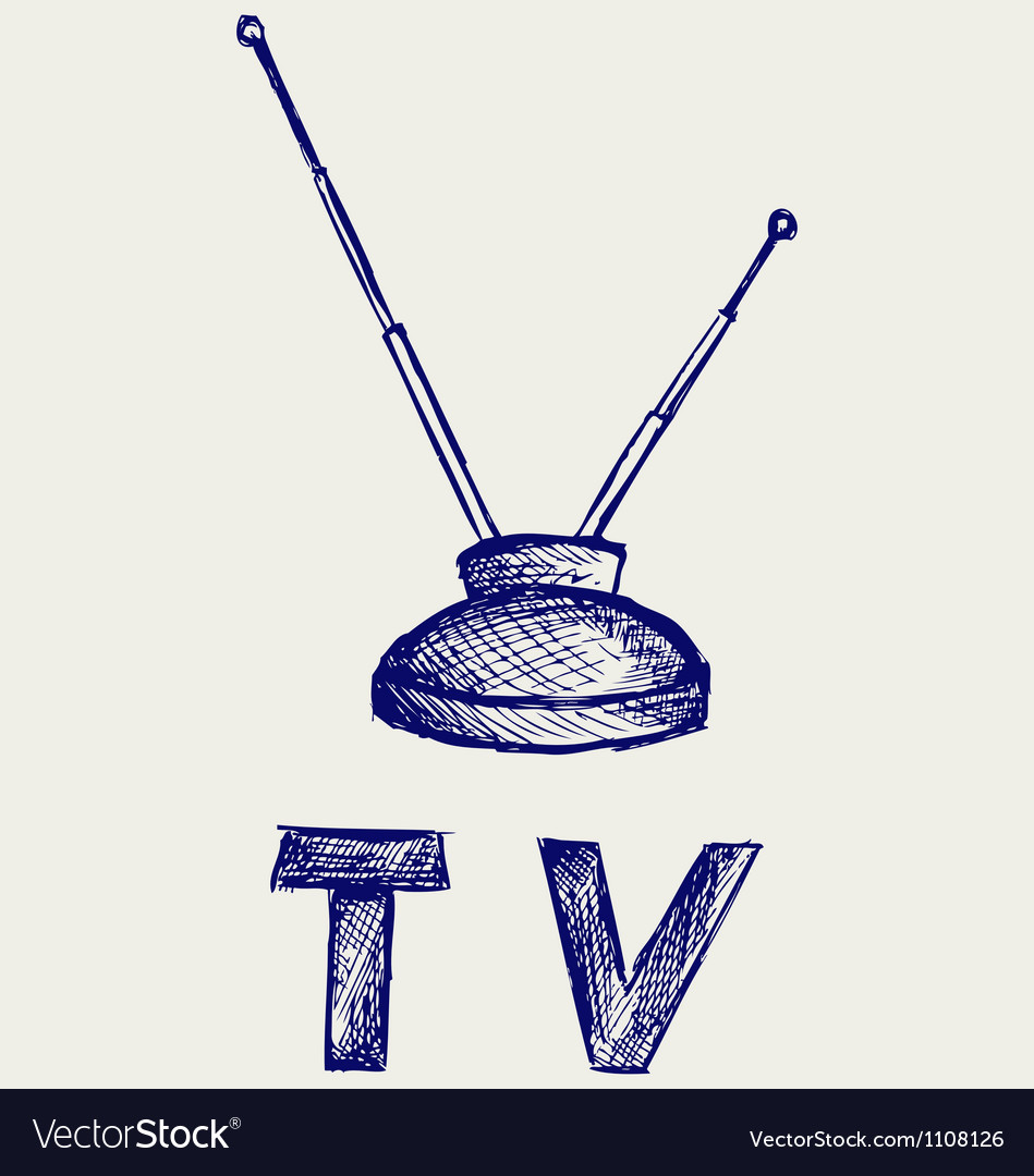 Seen on TV icon vector image