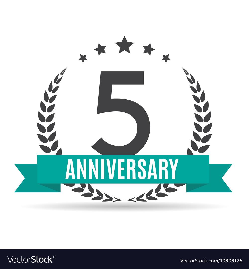 Template logo 5 years anniversary royalty free vector image template logo 5 years anniversary vector image biocorpaavc Gallery