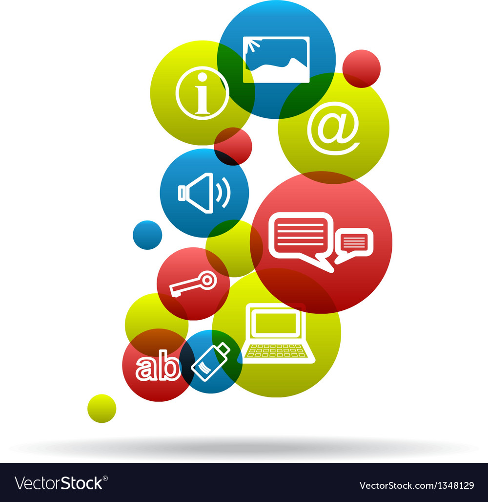 Social Icons Background vector image
