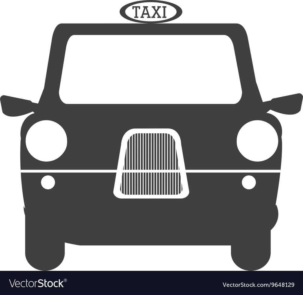 Black british cab graphic vector image