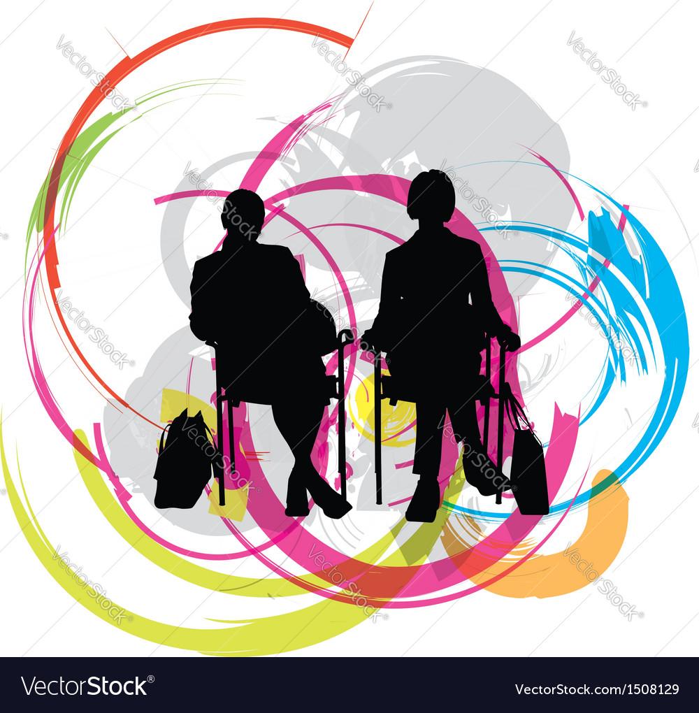 Businesswomen vector image