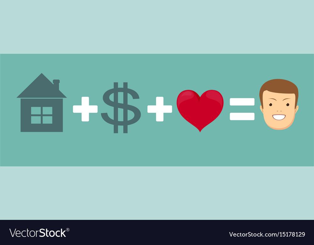 Drawing happiness formula vector image