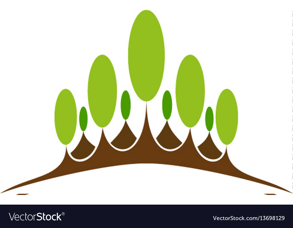 Green nature symbol element and icon vector image