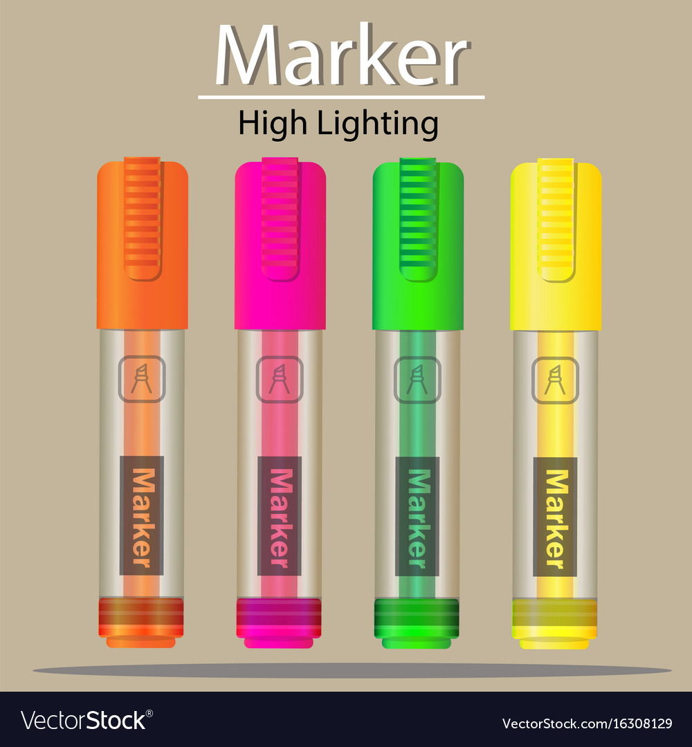Marker highlighting icon vector image