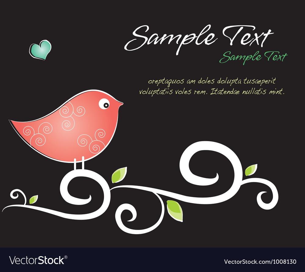 Crafty Bird Background vector image