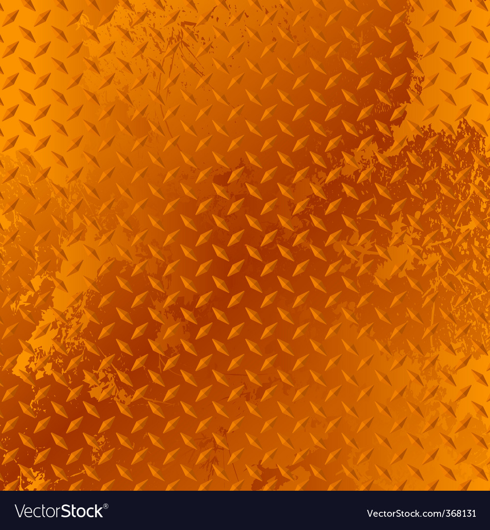 Rusted diamond plate Vector Image
