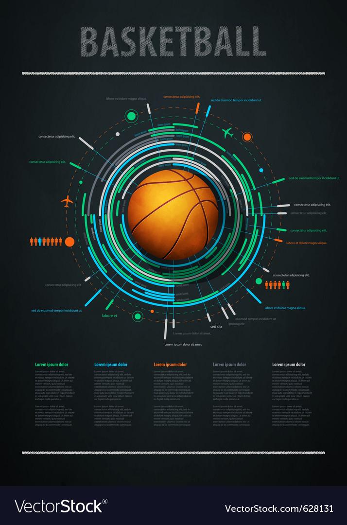 Infographics for basketball Vector Image