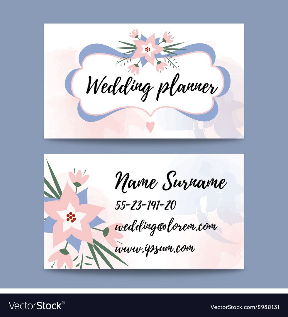 Pastel feminine business card template Royalty Free Vector