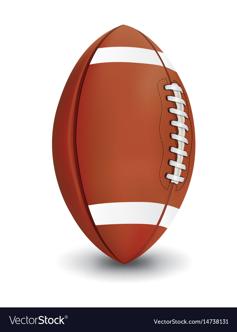 Realistic american football isolated on white vector image