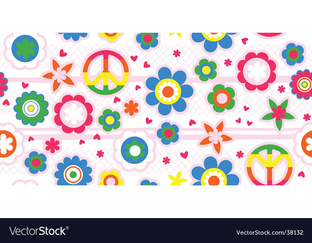 Floral love background vector image