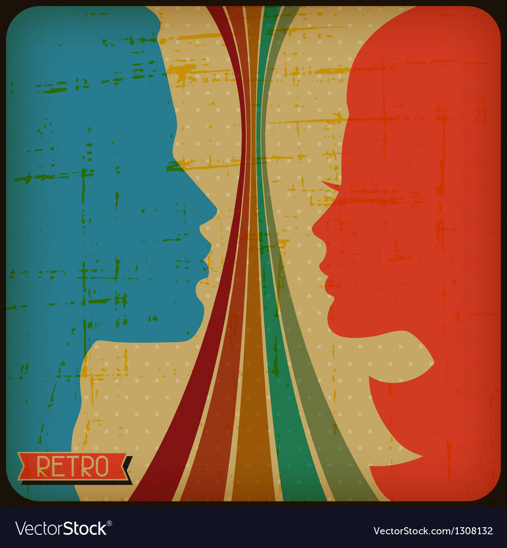 Retro poster with abstract grunge background vector image