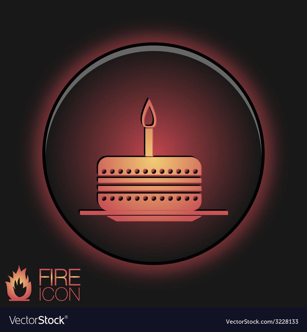 Icon birthday cake symbol of cake celebrating the vector image icon birthday cake symbol of cake celebrating the vector image buycottarizona