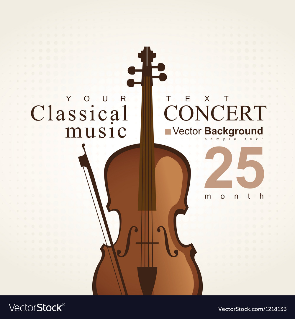 Poster with violi vector image