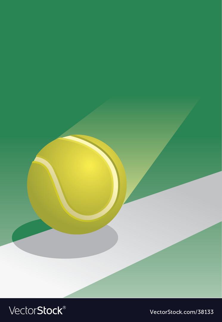 Tennis ball in flight vector image