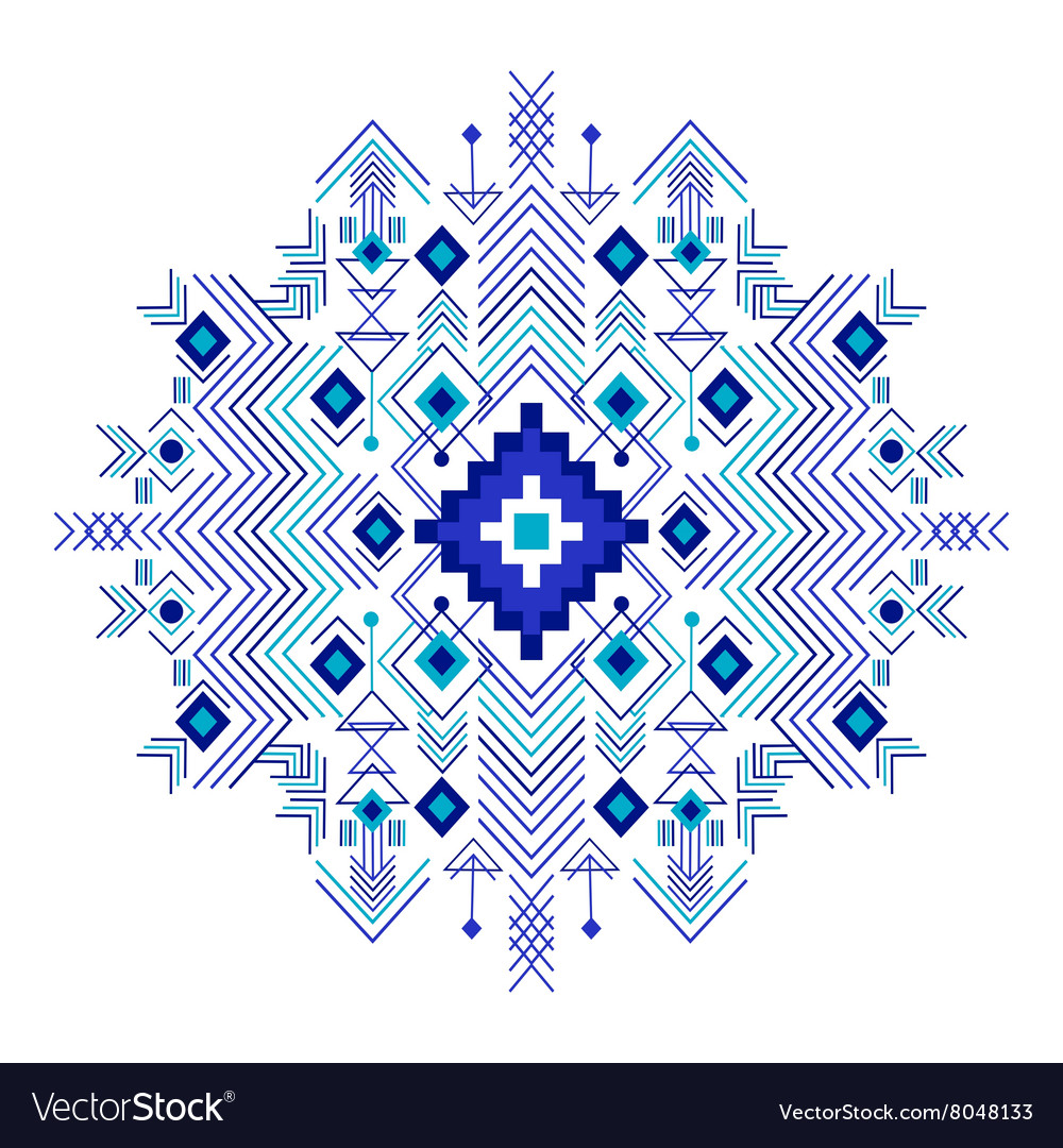 Tribal ethnic background for your use vector image