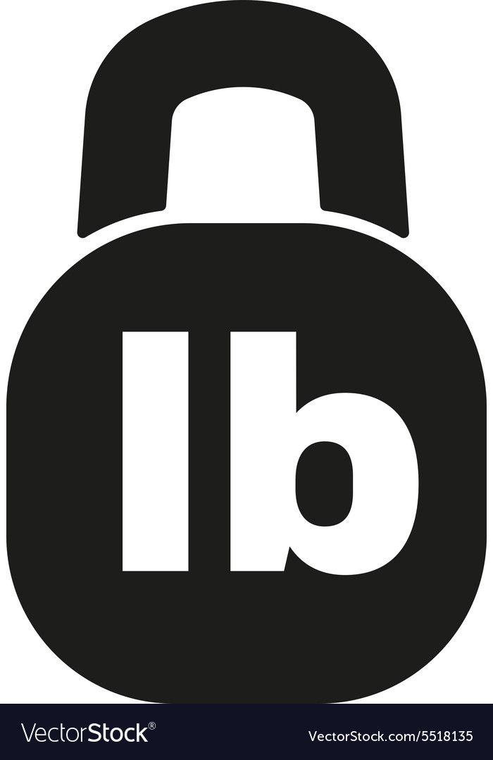 The pound icon Lb and weight symbol Flat vector image