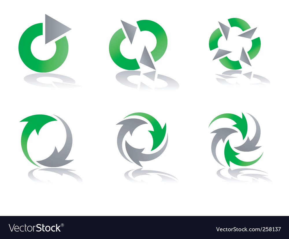 Recycle logo Royalty Free Vector Image - VectorStock