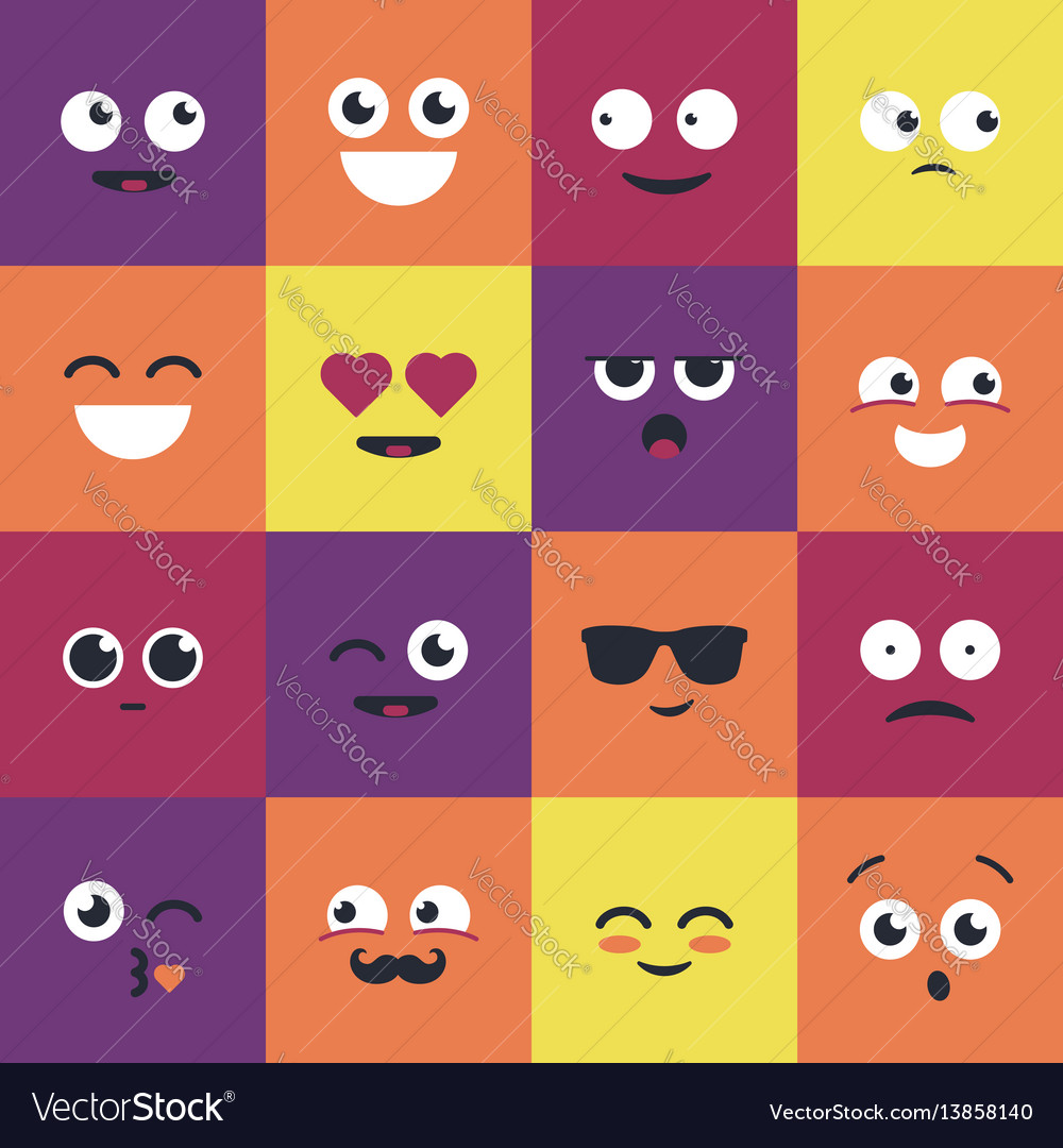 Smiley - modern set of emoji vector image