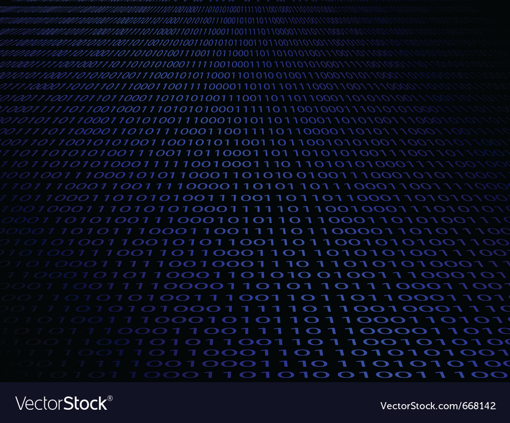 Abstract background with a digital binary code vector image