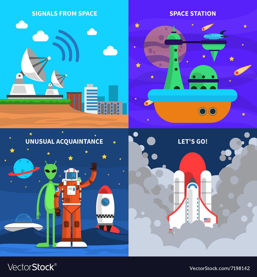 Space Concept Set vector image