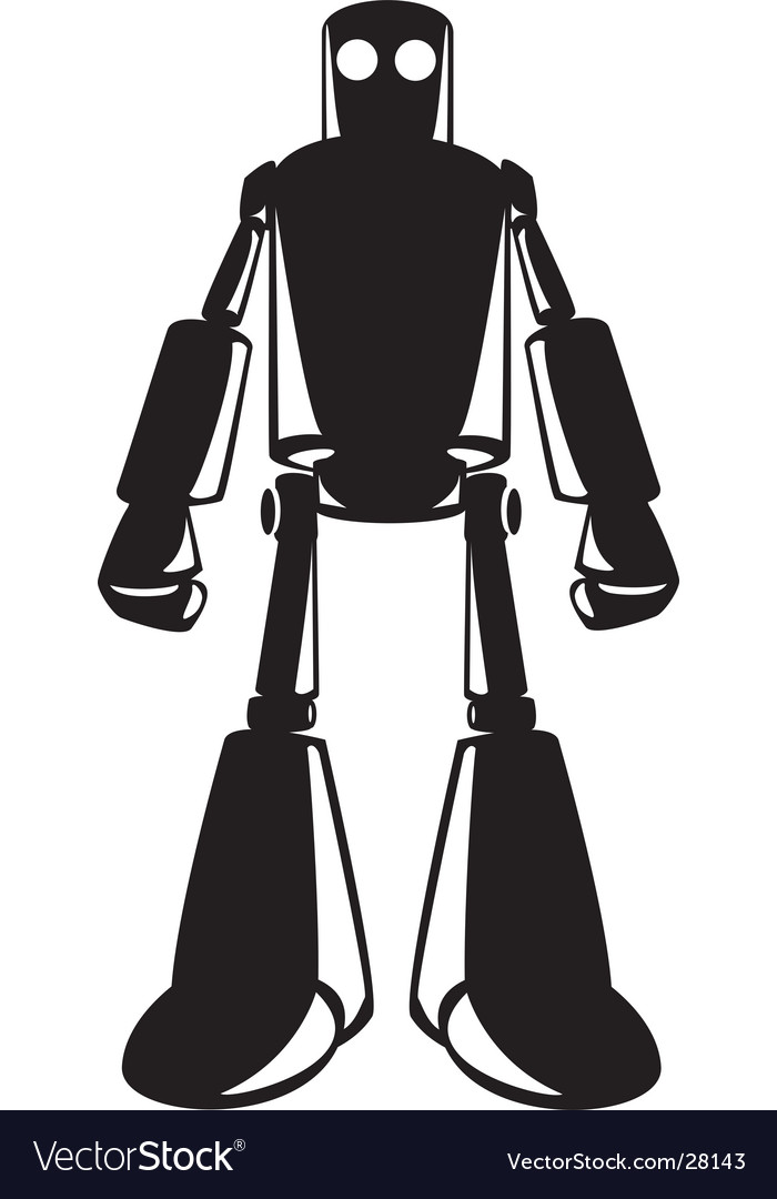 Looming robot vector image