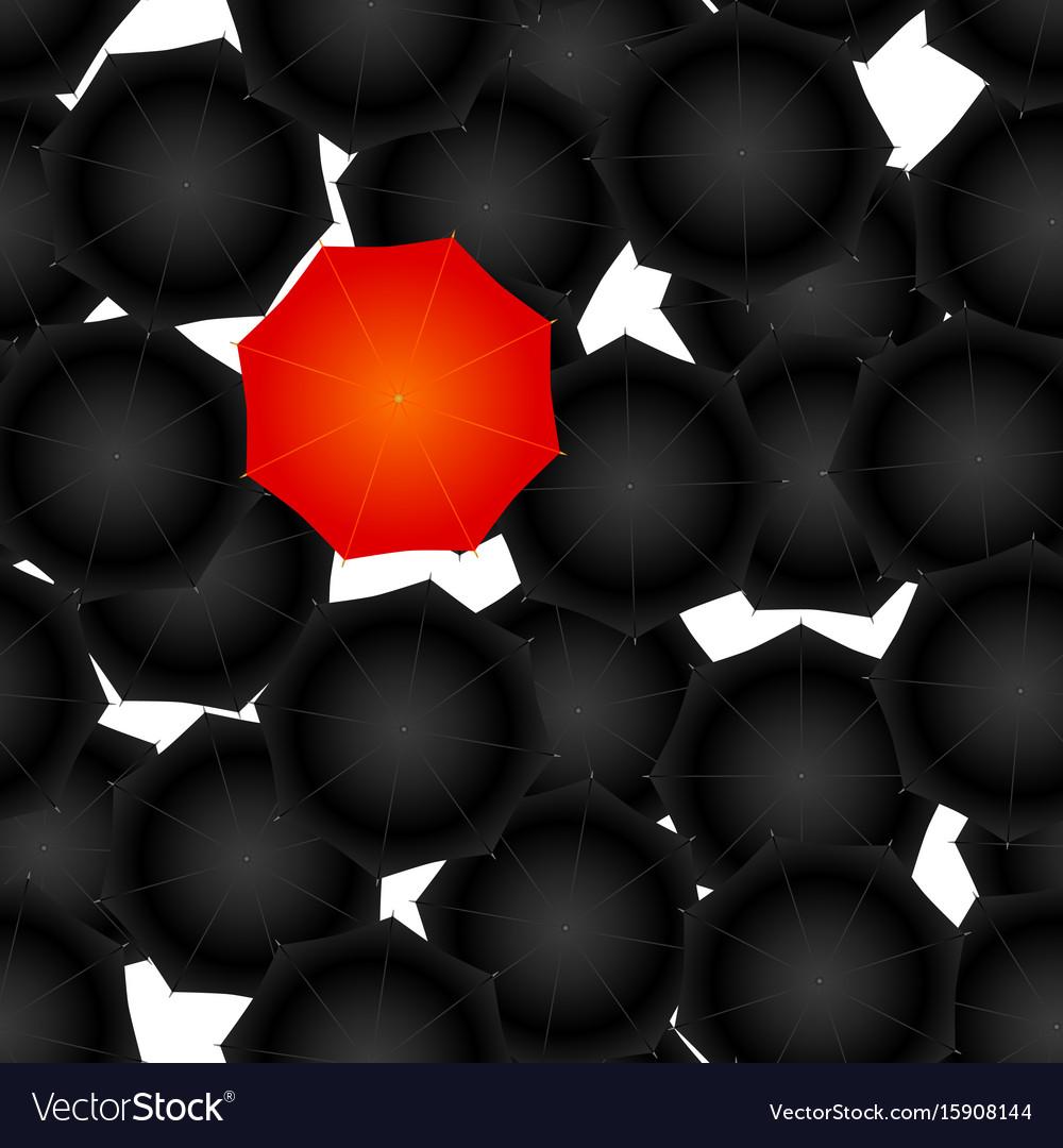 Seamless of opened umbrellas vector image