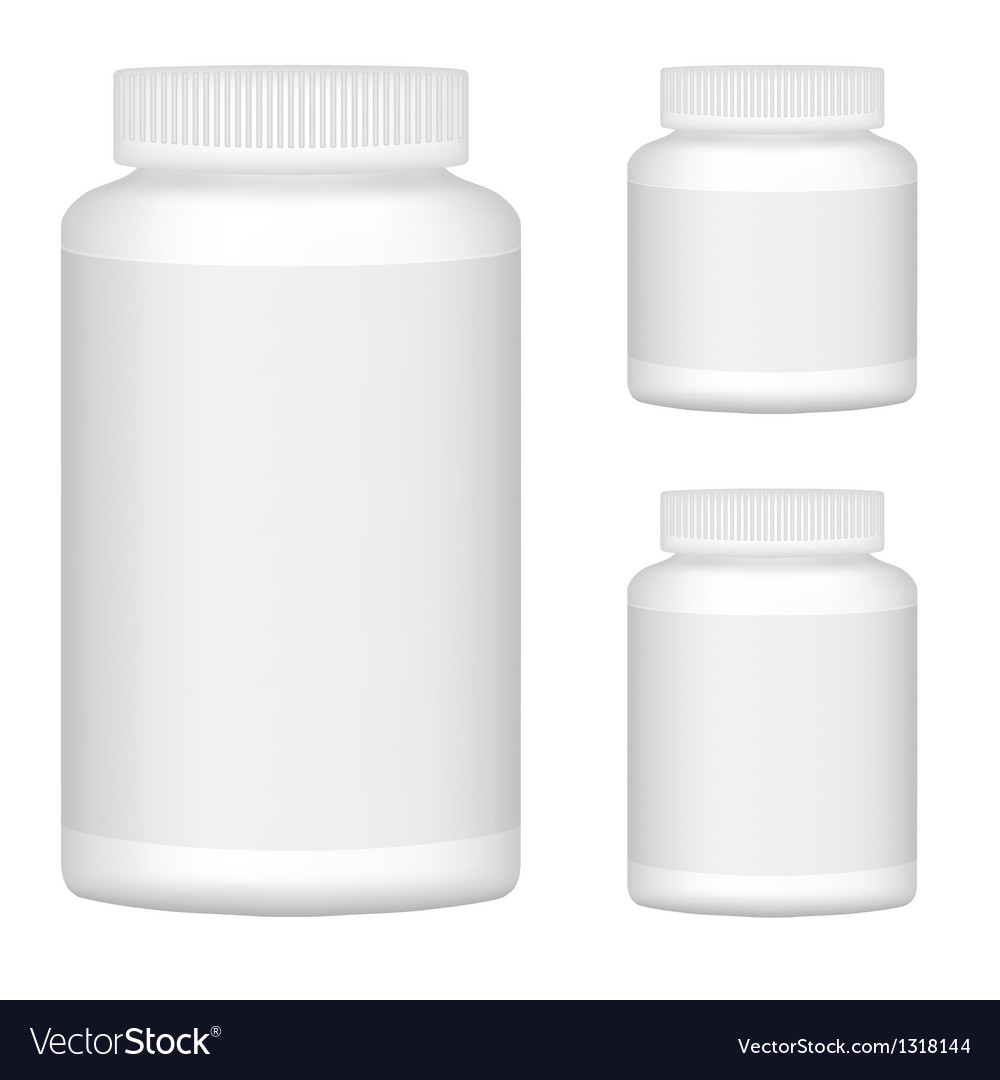 White Blank Plastic Bottle Set For Packaging vector image