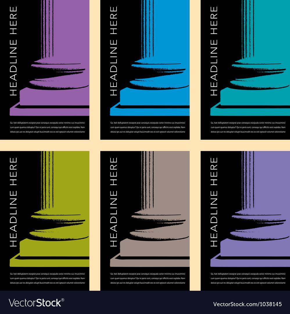 Column Art vector image