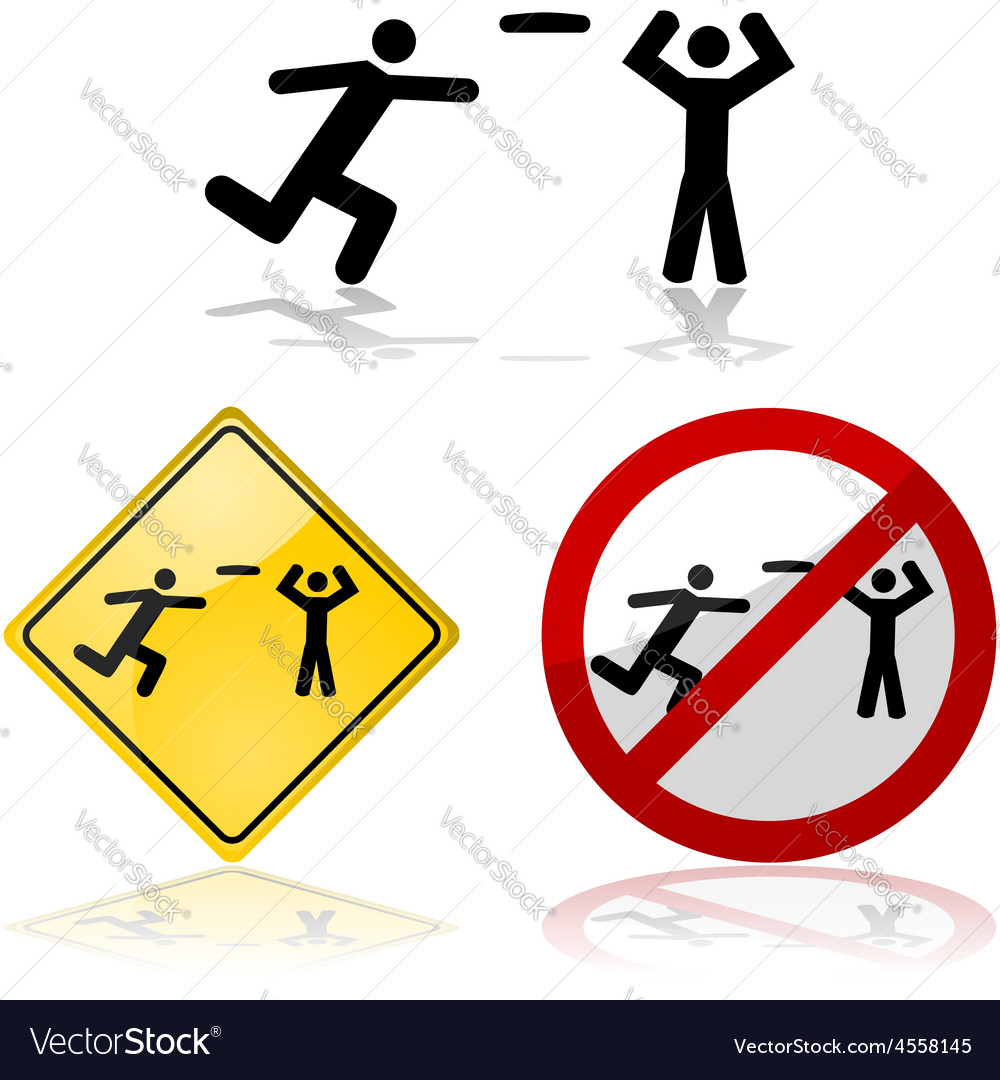 Flying disc signs vector image