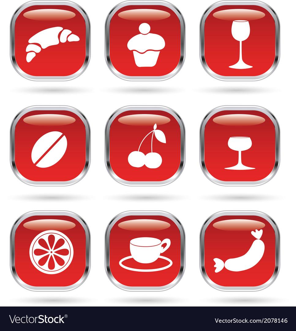 Food drink metal glass vector image