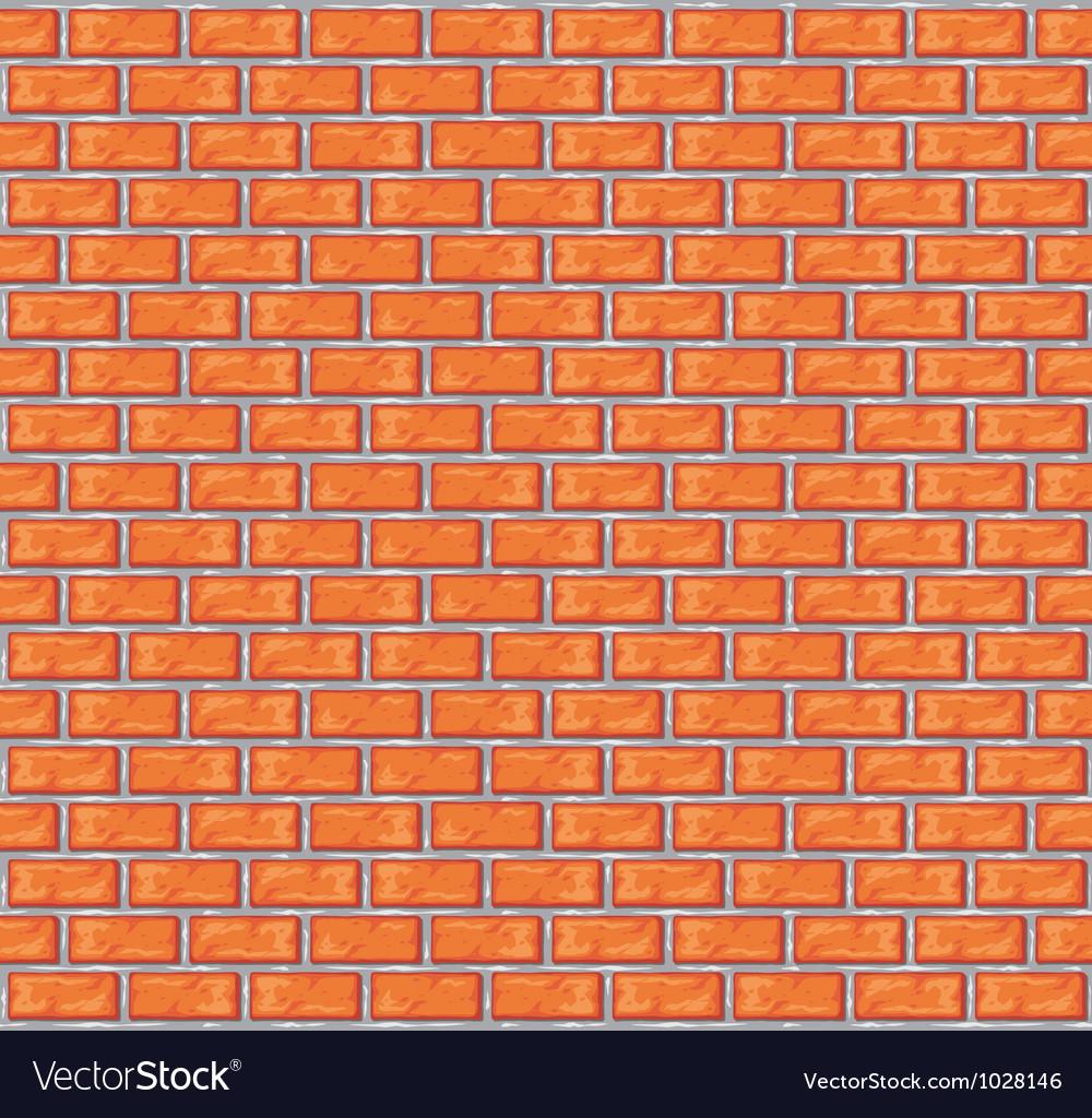Orange brick wall background vector image