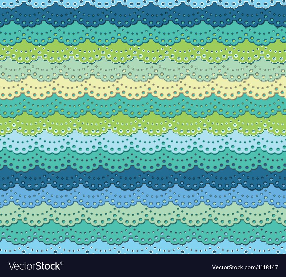 Green ruffle vector image