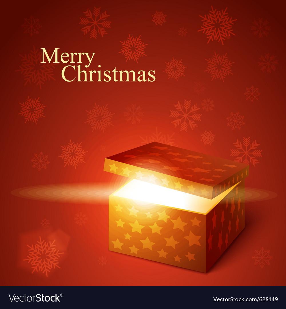 Editable of magic gift box vector image