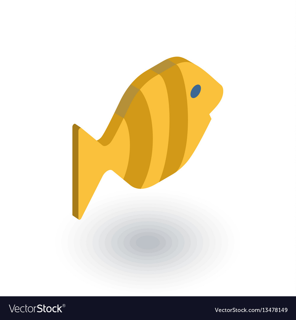 Goldfish isometric flat icon 3d vector image