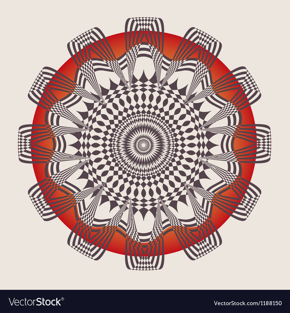 Ornamental poster vector image