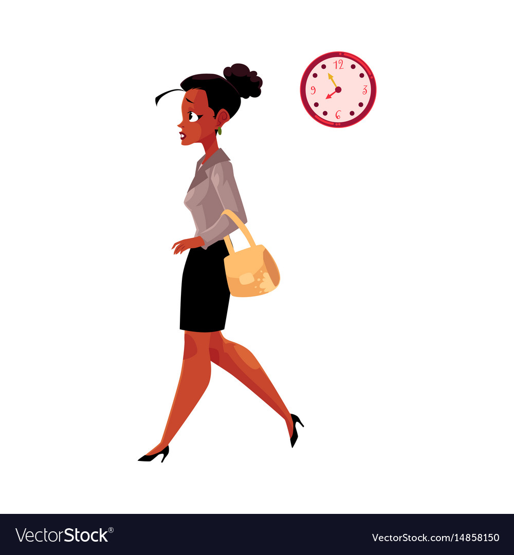 Young black african american businesswoman vector image