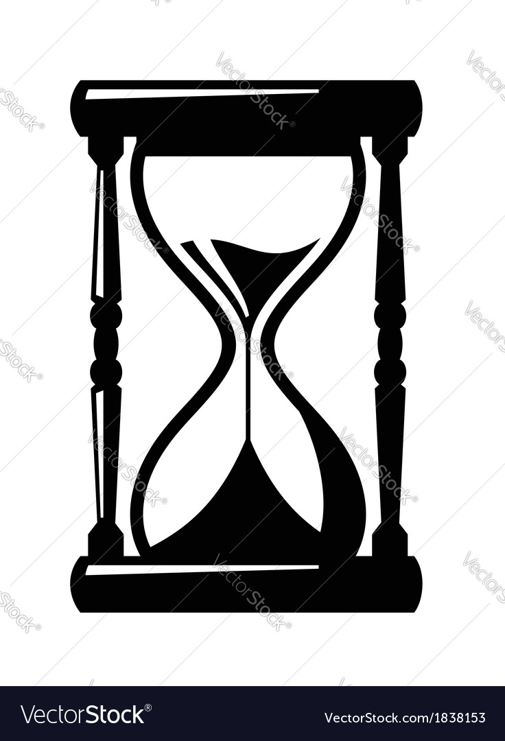 Hourglass icon  Sand hourglass icon Royalty Free Vector Image - VectorStock