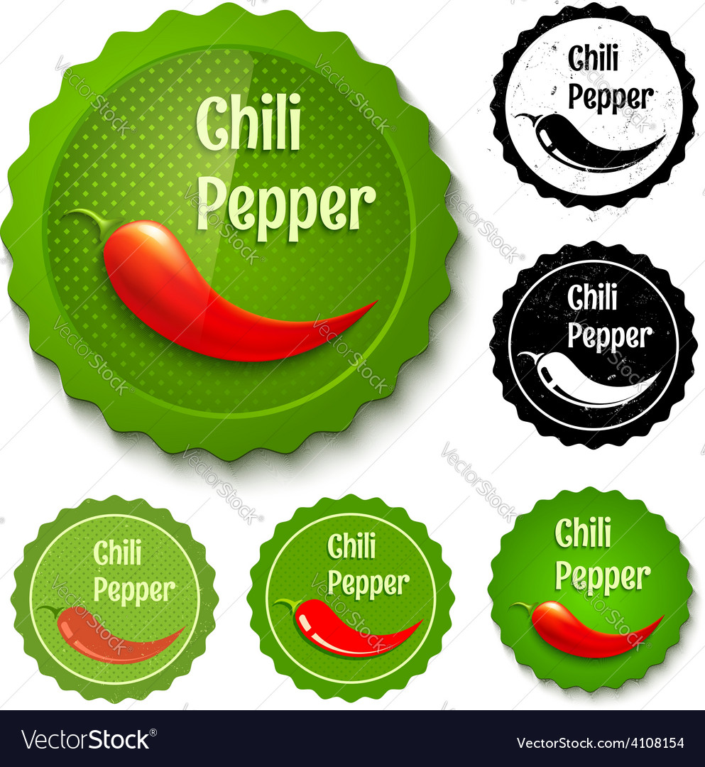 Red chili banners vector image