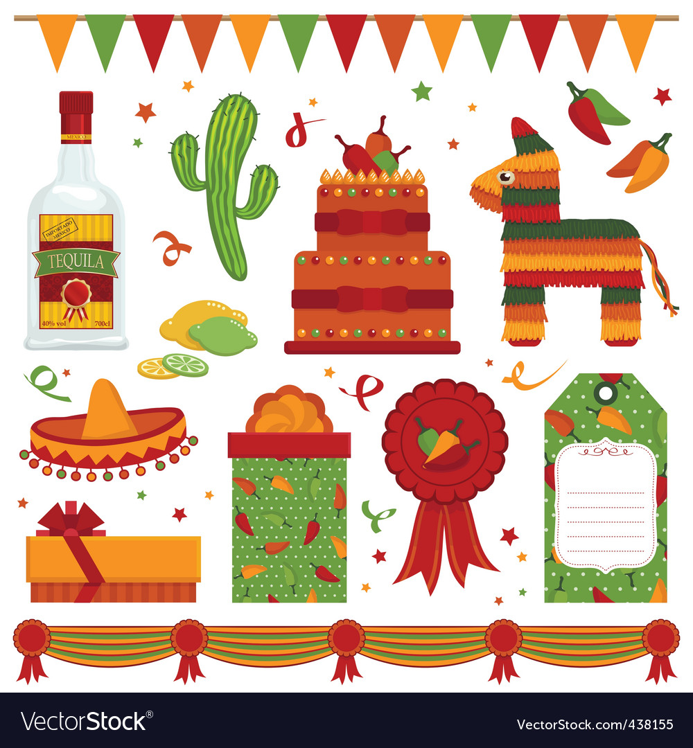 Mexican party vector image