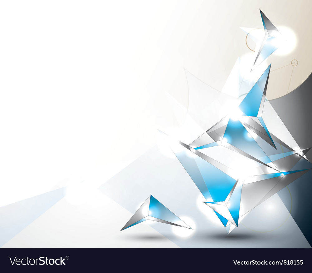 Abstract background with volume figures vector image