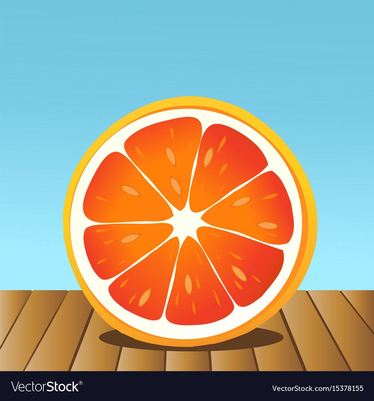 Summer grapefruit vector image