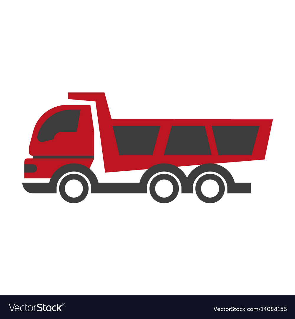 Haul or dump truck logo icon dumper and tipper vector image