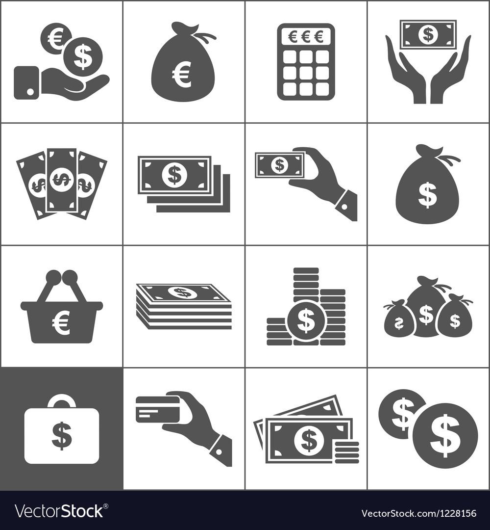 Money an icon vector image
