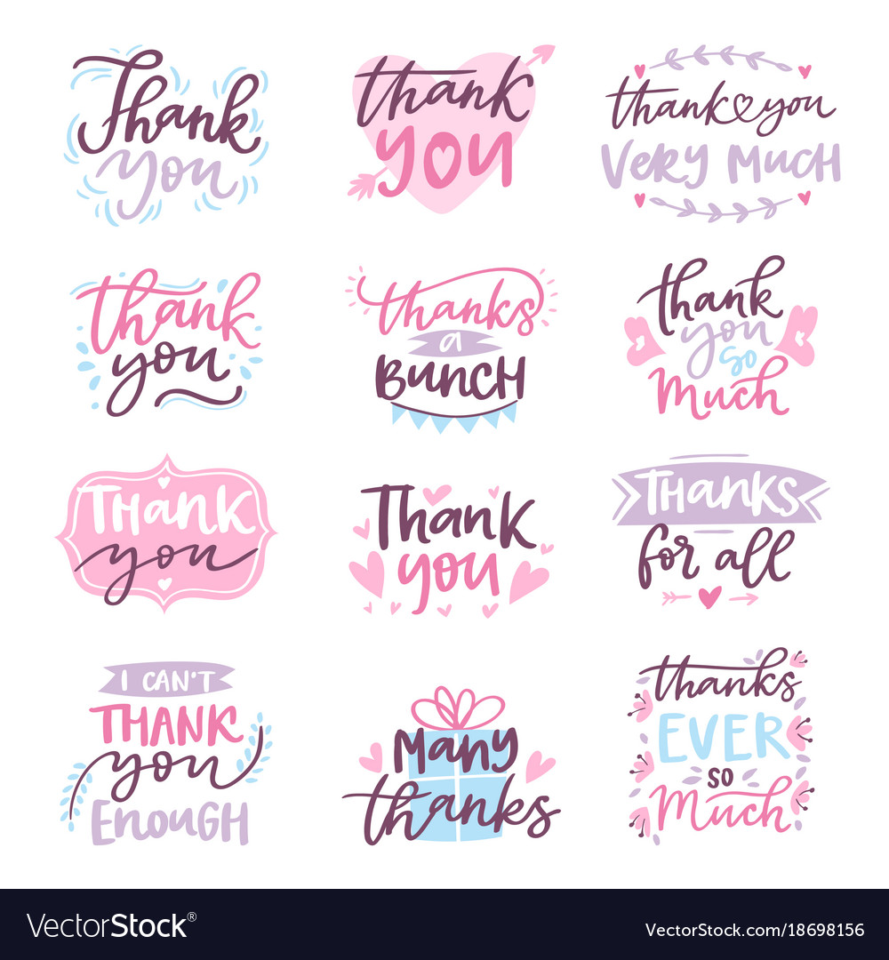 Thank you card text logo letter script royalty free vector thank you card text logo letter script vector image expocarfo