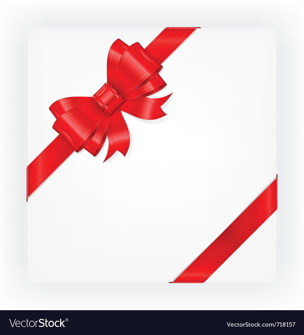 Big red gift bow royalty free vector image vectorstock big red gift bow vector image negle Image collections