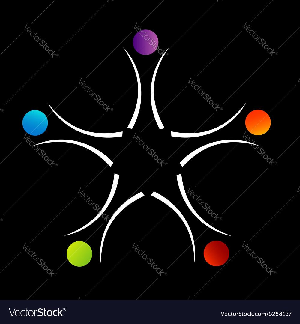 Teamwork support logo or design element vector image
