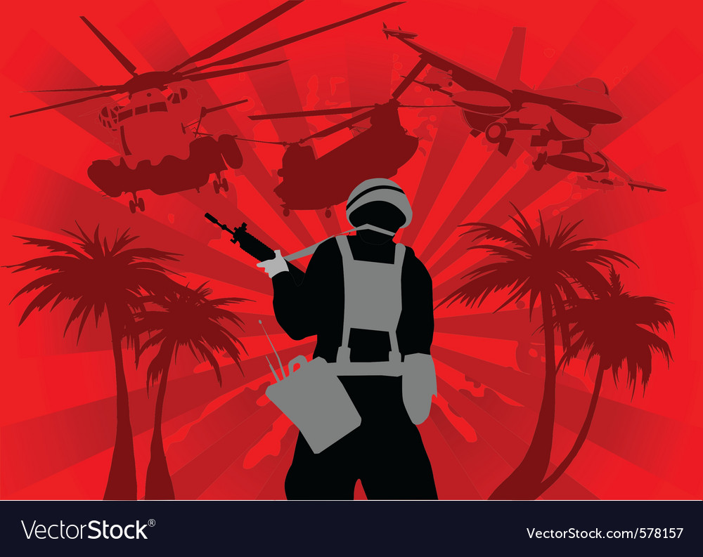 War vector image