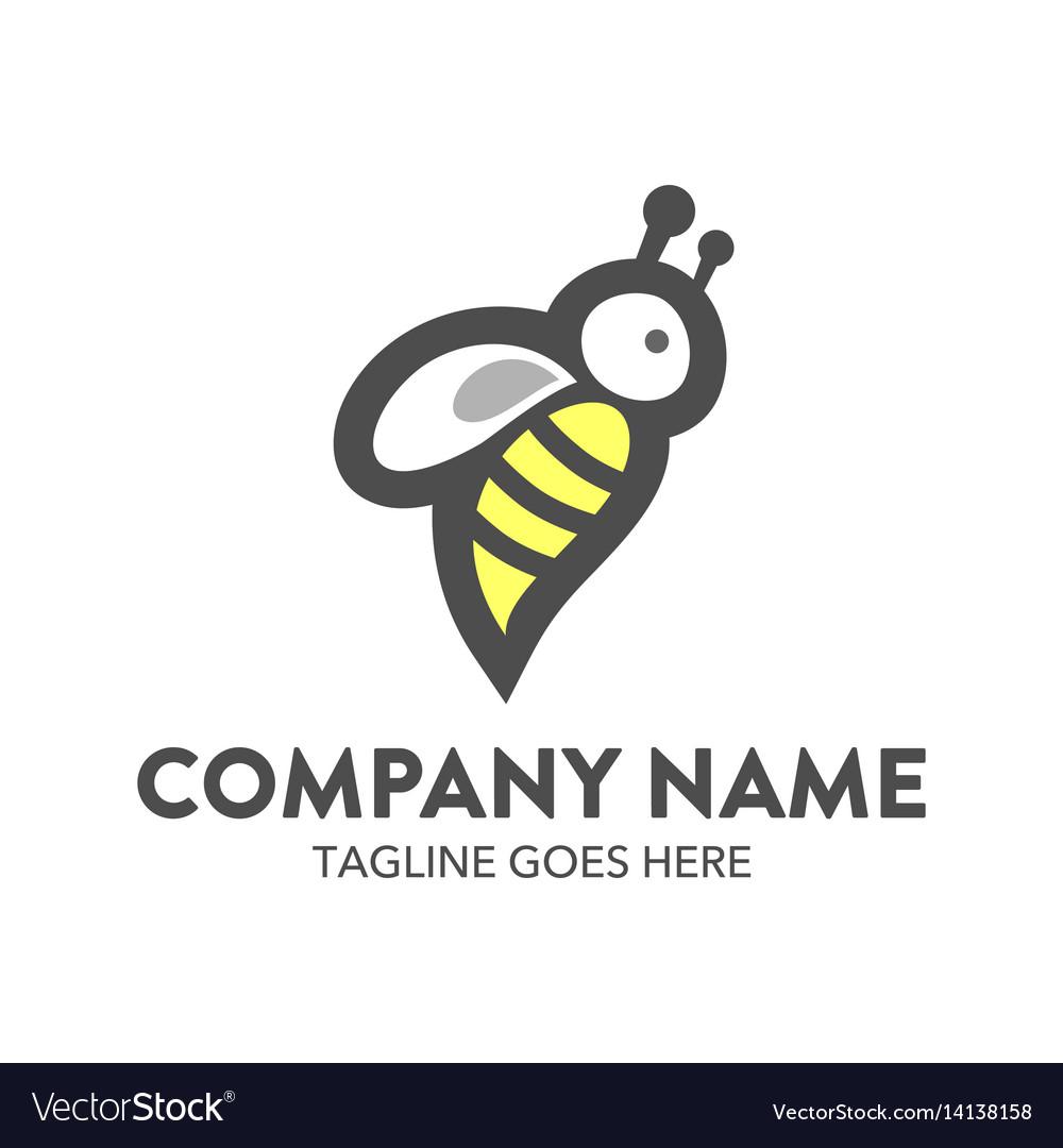 Bee logo-10 vector image