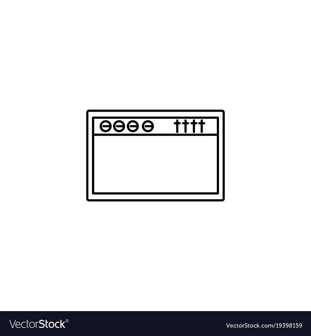 Amplifier icon vector image
